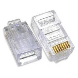 Разъем RJ45 UTP 8P8C cat.5e коннектор универсальный (упаковка 100 шт.)