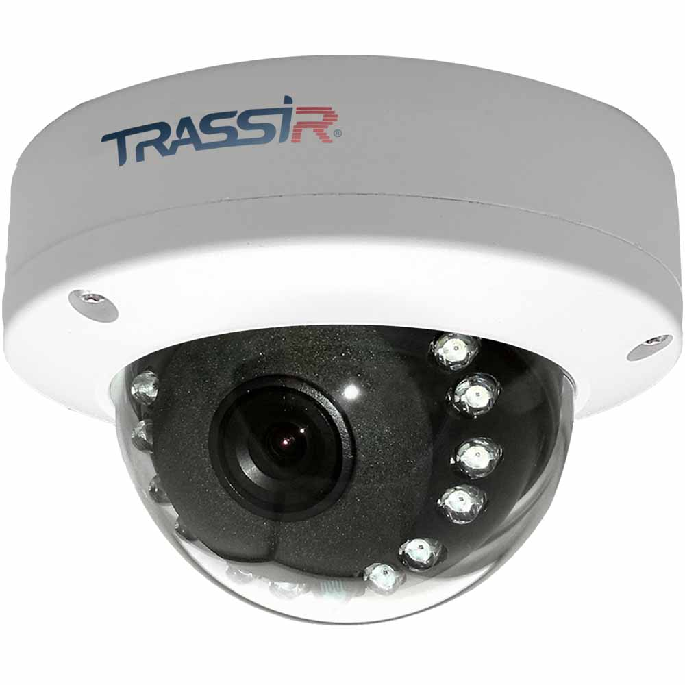Trassir TR-D3121IR1 2.8 v4 купольная вандалозащищенная 2Мп IP-камера