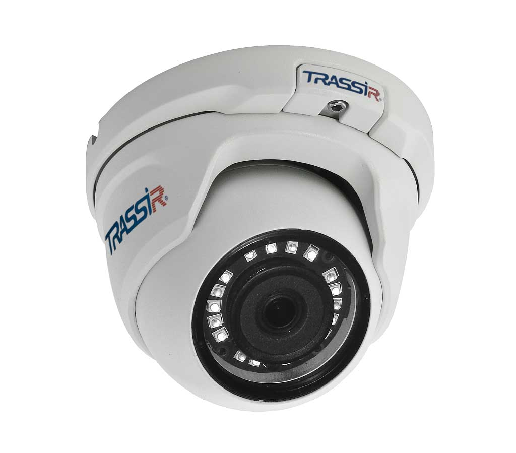 Trassir TR-D8121IR2 v4 3.6 сферическая вандалозащищенная 2Мп IP-камера