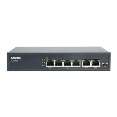 Amatek AN-S6P4D HiPoE неуправляемый 6-портовый PoE коммутатор