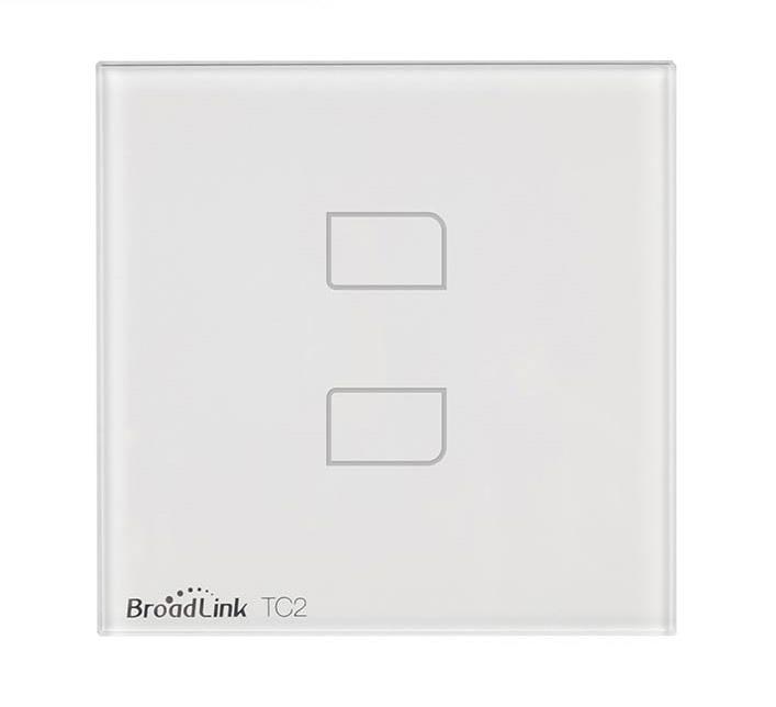 Broadlink TC2 Сенсорный выключатель на 2 зоны Wall Light Switch 2-Gang