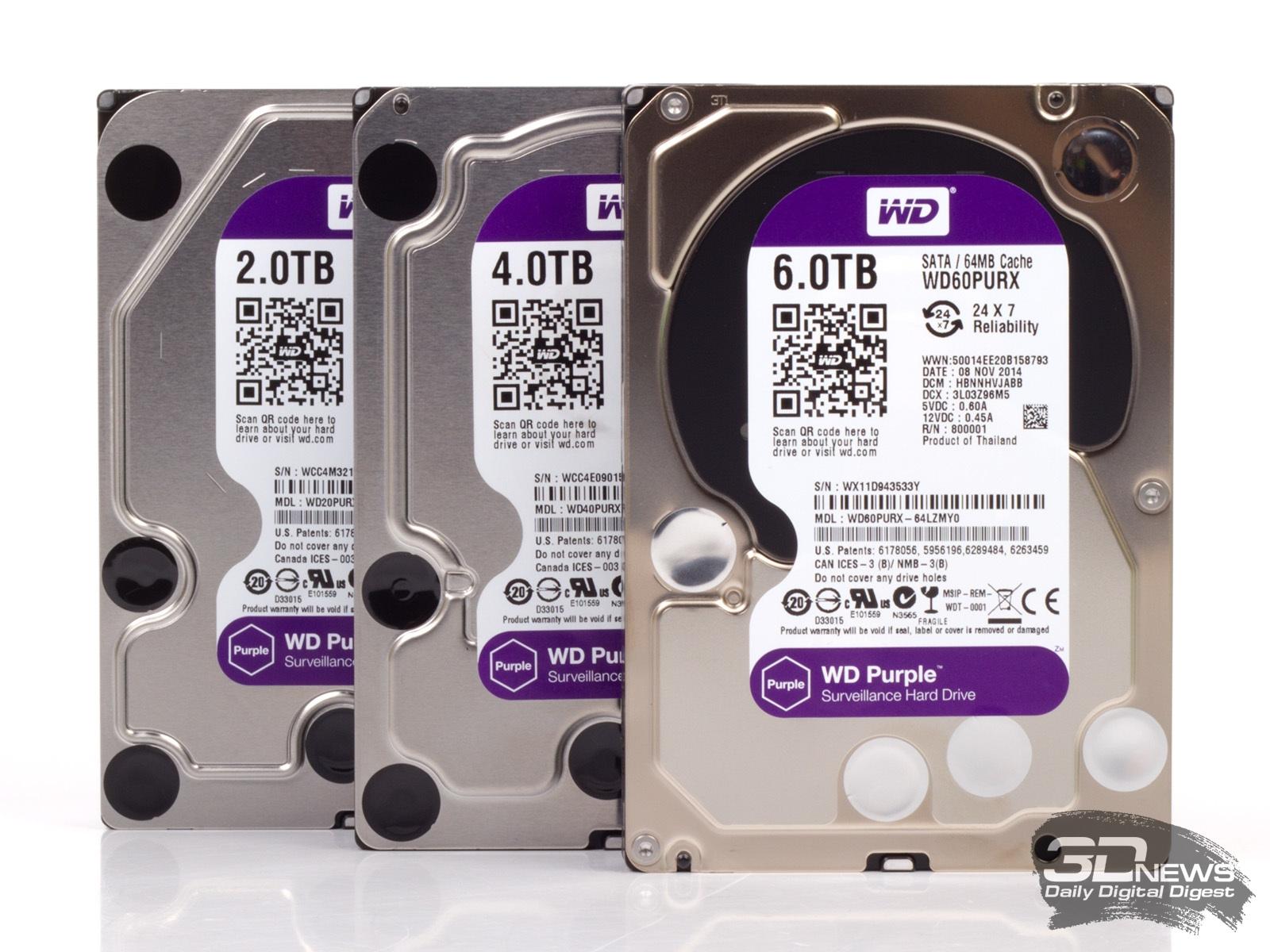 Жесткий диск WD Purple 4 Tb с максимальной отказоустойчивостью