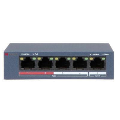HiWatch DS-S504P(B) PoE коммутатор