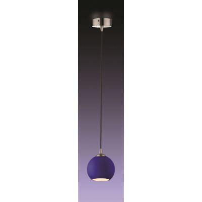 Odeon Light 1343/B Подвес Цвет: матовый никель/синий