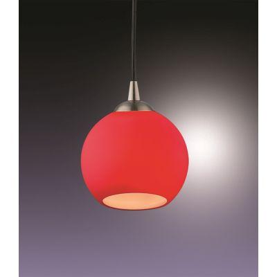 Odeon Light 1343/R Подвес Цвет: матовый никель/красный
