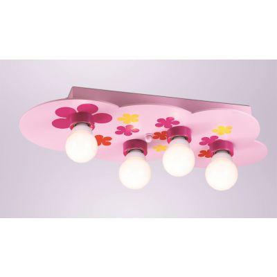 Odeon Light 2441/4C Люстра потолочная Цвет: розовый