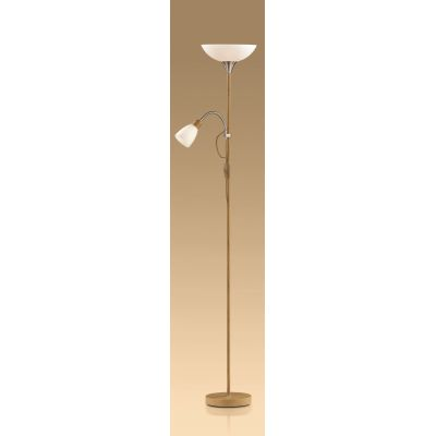 "Odeon Light 2461/F Торшер Цвет: никель/""светлое дерево"""