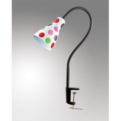 """Odeon Light 2594/1T Настольная лампа с выключателем Цвет: белый/""""горох"""" розовый/красный"""