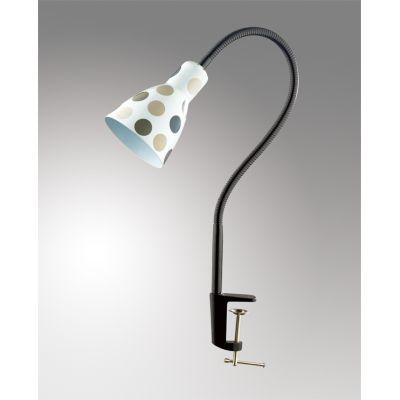 """Odeon Light 2595/1T Настольная лампа с выключателем Цвет: белый/""""горох"""" серый/синий"""