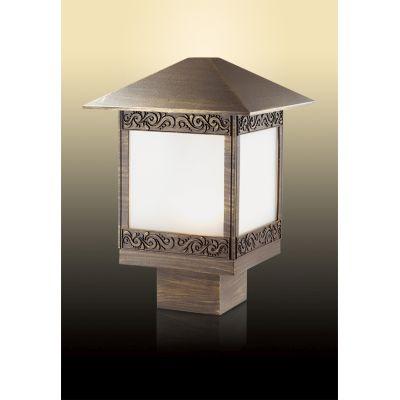 Odeon Light 2644/1B Уличный светильник на столб Цвет: коричневый/пластик антивандальный