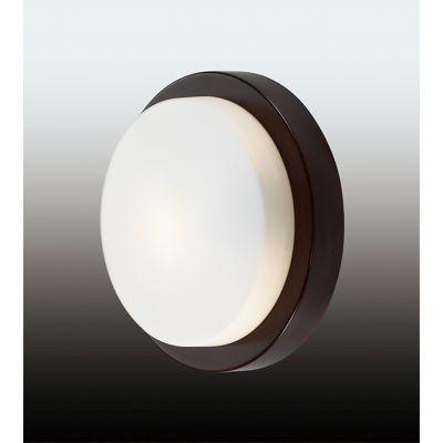 """Odeon Light 2744/1C Настенно-потолочный светильник влагозащищённый Цвет: """"венге""""/стекло"""