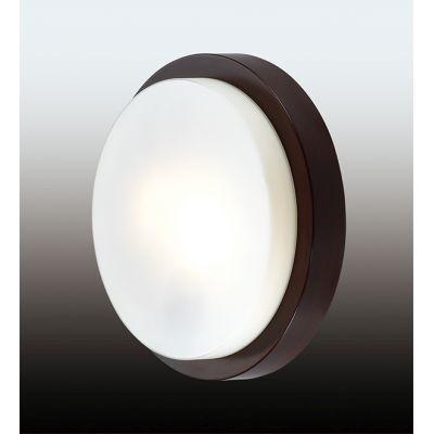 """Odeon Light 2744/2C Настенно-потолочный светильник влагозащищённый Цвет: """"венге""""/стекло"""