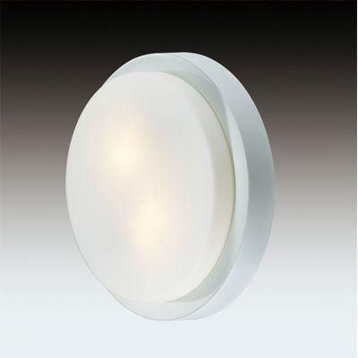 Odeon Light 2745/1C Настенно-потолочный светильник влагозащищённый Цвет: белый/стекло