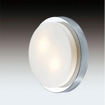 Odeon Light 2746/2C Настенно-потолочный светильник влагозащищённый Цвет: хром/стекло