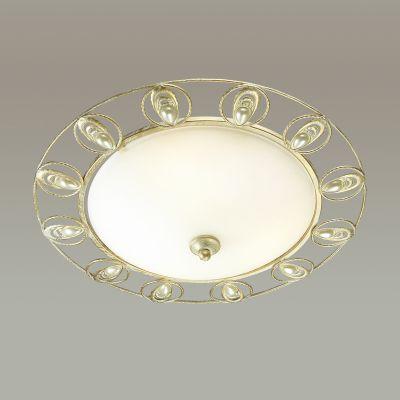 Odeon Light 3483/3C Торшер Цвет: белый/золотая патина