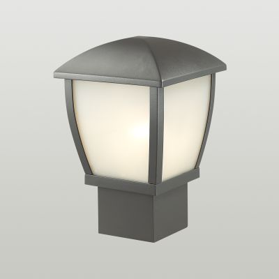 Odeon Light 4051/1B Уличный светильник на столб Цвет: темно-серый/матовый белый
