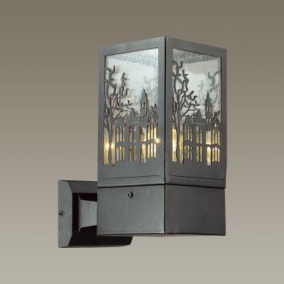 Odeon Light 4054/1W Уличный настеный светильник Цвет: коричневый